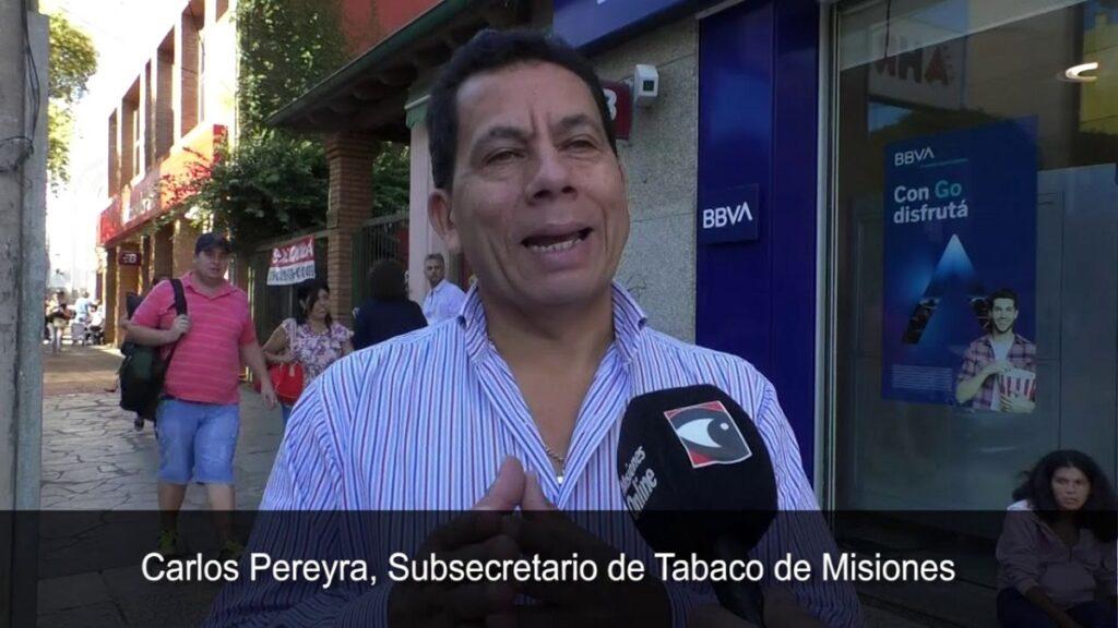 Carlos Pereira, subsecretario de Tabaco de Misiones